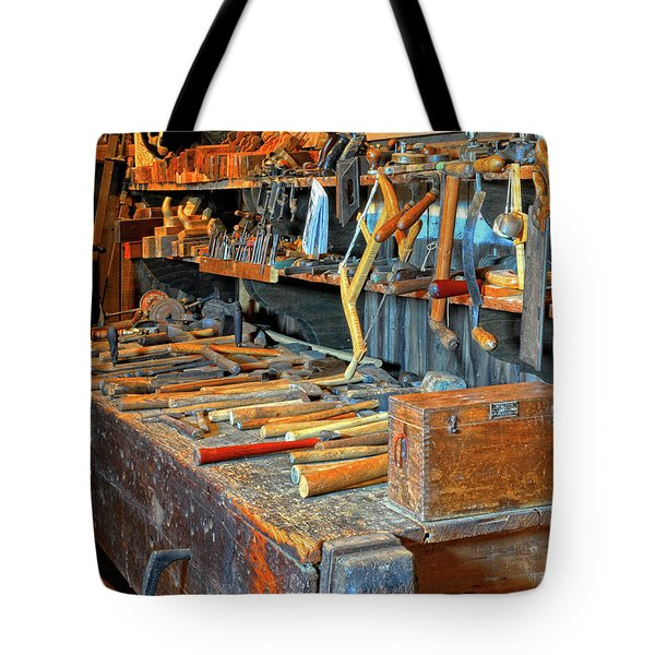 Antique Tool Bench Tote Bag