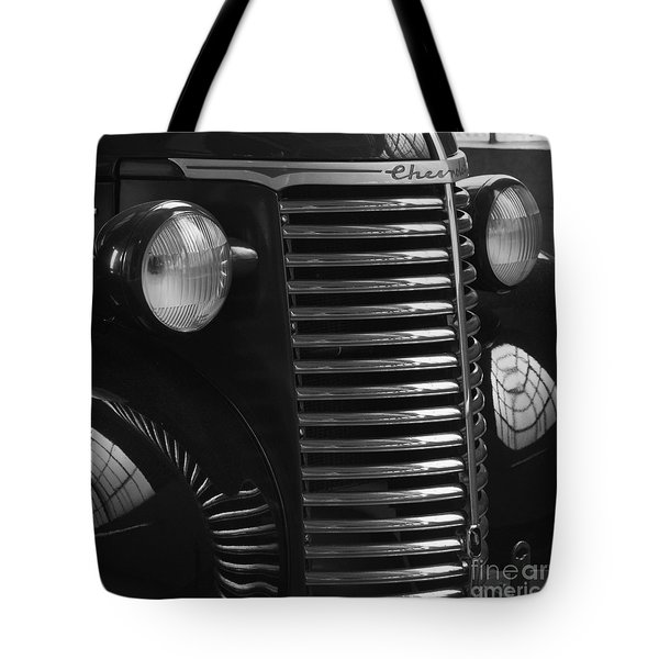 Antique Truck Black And White Tote Bag