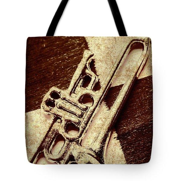 Antique Trumpet Club Tote Bag