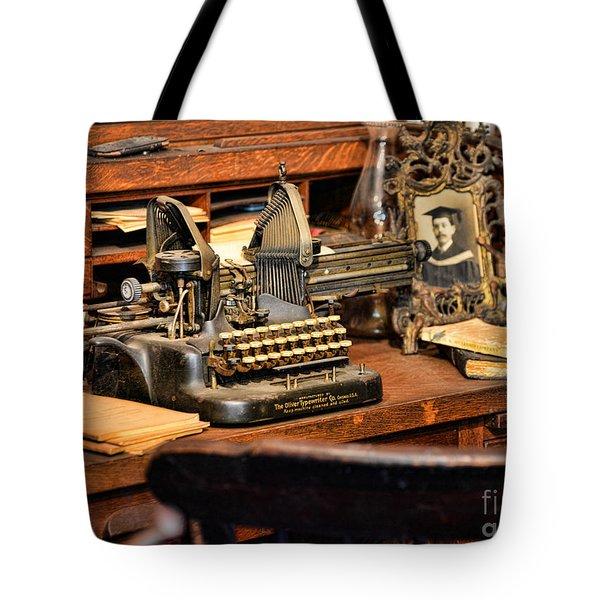 Antique Typewriter Tote Bag by Paul Ward