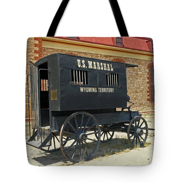 Antique U.s Marshalls Wagon Tote Bag by Sally Weigand