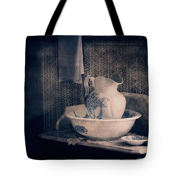 Antique Wash Basin And Pitcher  Tote Bag