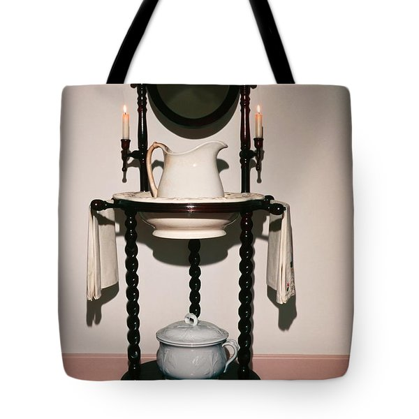 Antique Wash Stand Tote Bag by Sally Weigand