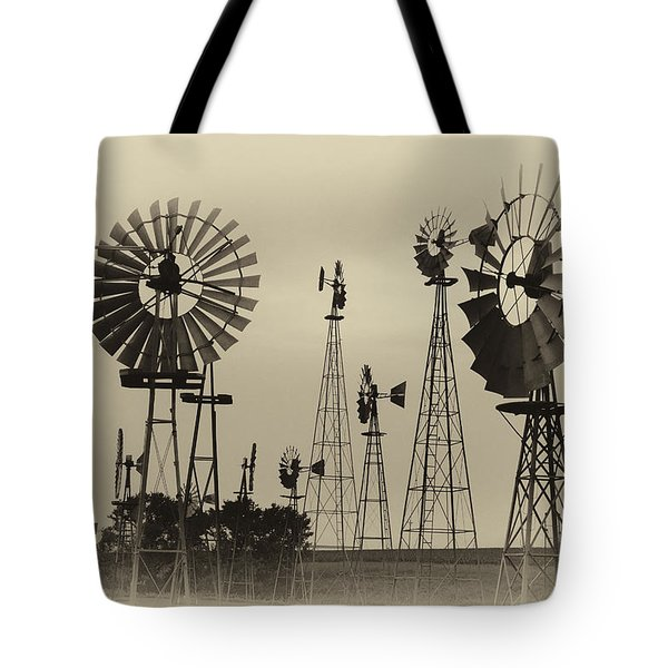 Antique Windmills Tote Bag