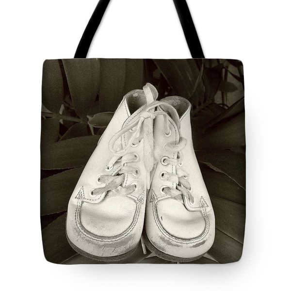 Antiqued Baby Shoes Tote Bag by Ellen O'Reilly