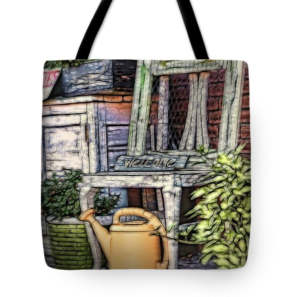 Antiques On The Front Porch Tote Bag