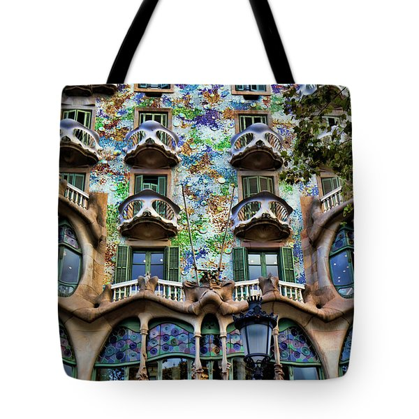 Antoni Gaudi's Casa Batllo Barcelona Spain  Tote Bag