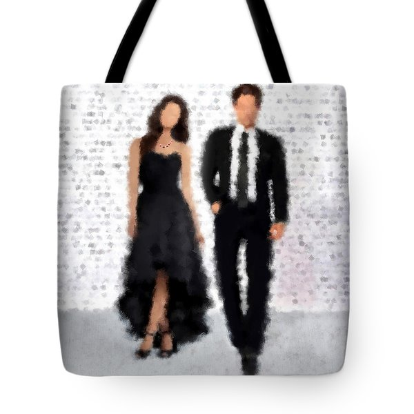 Tote Bag featuring the digital art Antonia And Giovanni by Nancy Levan