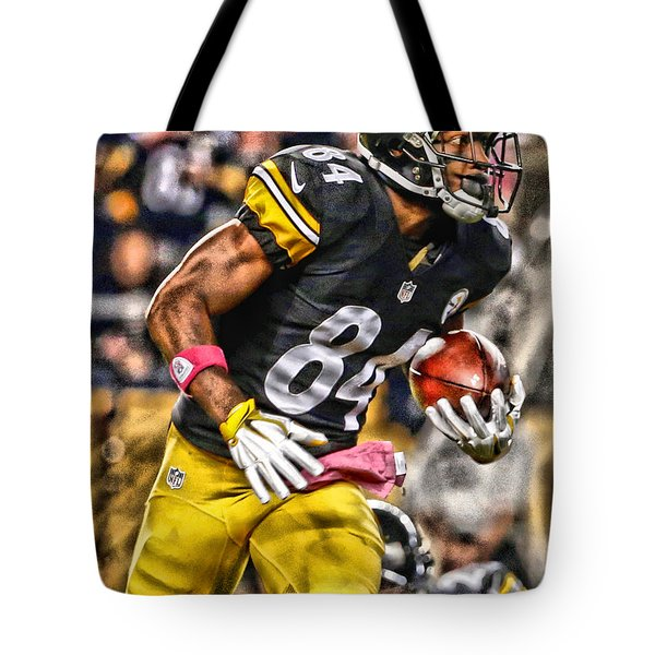 Antonio Brown Steelers Art 2 Tote Bag