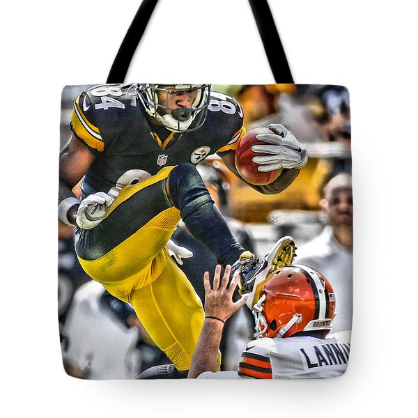 Antonio Brown Steelers Art 5 Tote Bag