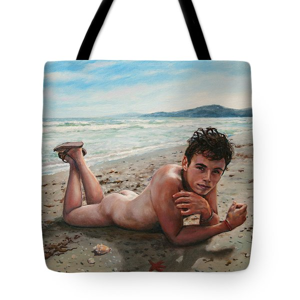 Antonio En La Playa Tote Bag
