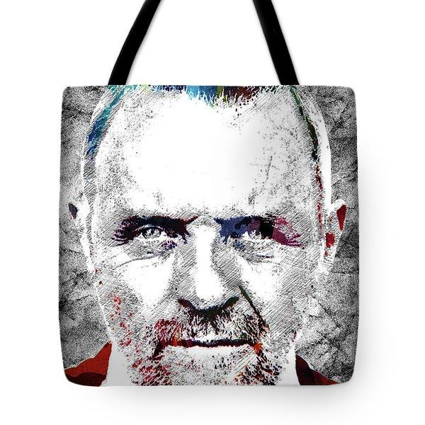 Antony Hopkins Tote Bag by Mihaela Pater