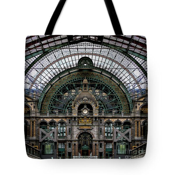 Antwerp Train Terminal Tote Bag by Doug Sturgess