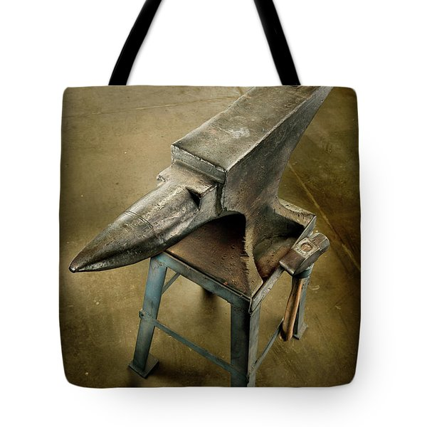 Tote Bag featuring the photograph Anvil And Hammer by YoPedro
