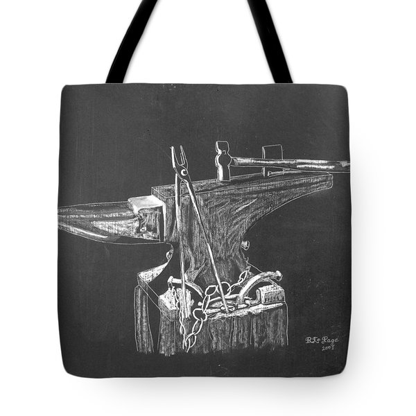 Tote Bag featuring the painting Anvil by Richard Le Page