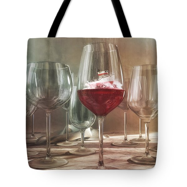 Any Port In A Storm Tote Bag by Cynthia Decker