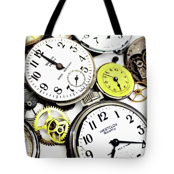 Anybody Really Know What Time It Is Tote Bag by Pat Cook