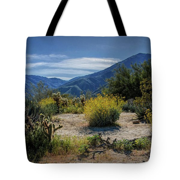 Tote Bag featuring the photograph Anza-borrego Desert State Park Desert Flowers by Randall Nyhof