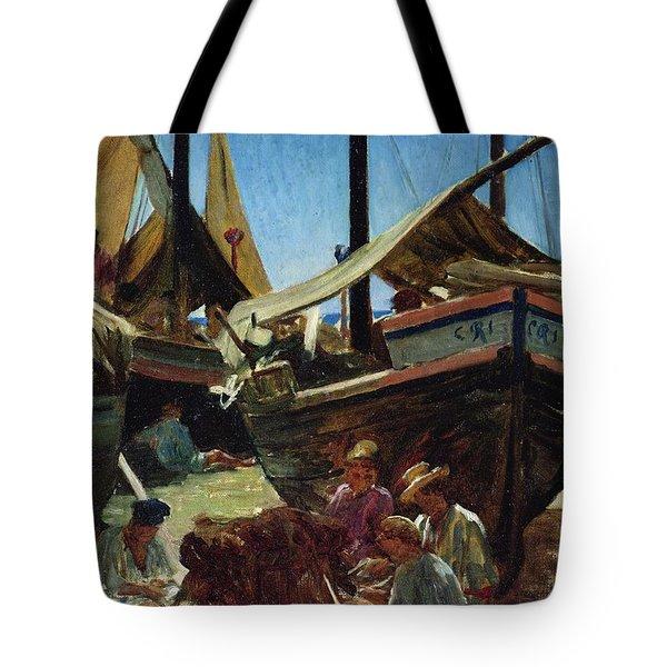 Anzio The Port Tote Bag by Antoine Auguste Ernest Hebert