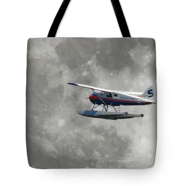 Aop And The Full Moon Tote Bag