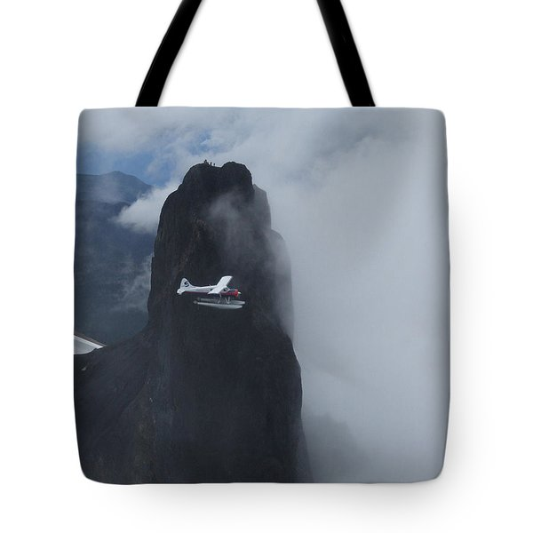 Aop At Black Tusk Tote Bag