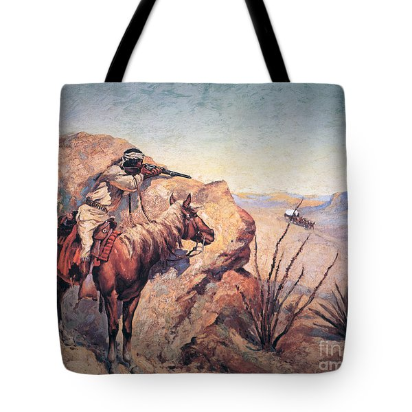 Apache Ambush Tote Bag by Frederic Remington