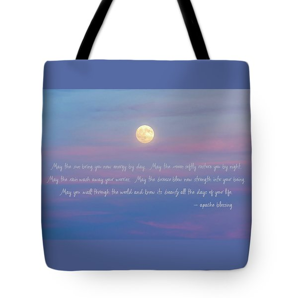 Apache Blessing Harvest Moon 2016 Tote Bag