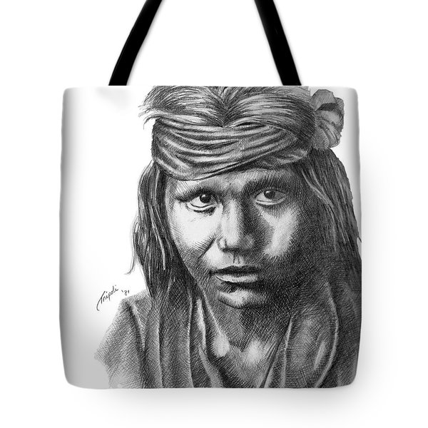 Apache Boy Tote Bag