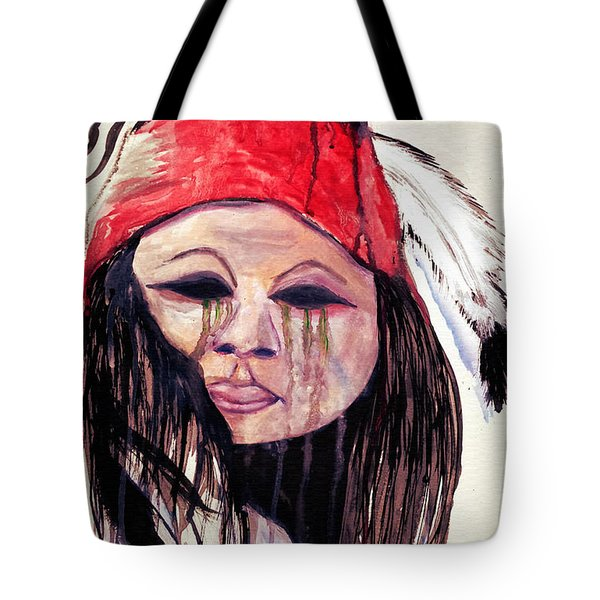 Watercolor Painting Of Apache Tears By Ayasha Loya Tote Bag