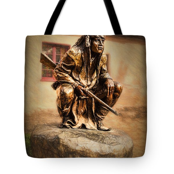 Tote Bag featuring the photograph Apache Warrior  ... by Chuck Caramella