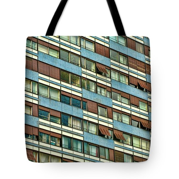 Tote Bag featuring the photograph Apartment Windows by Kim Wilson