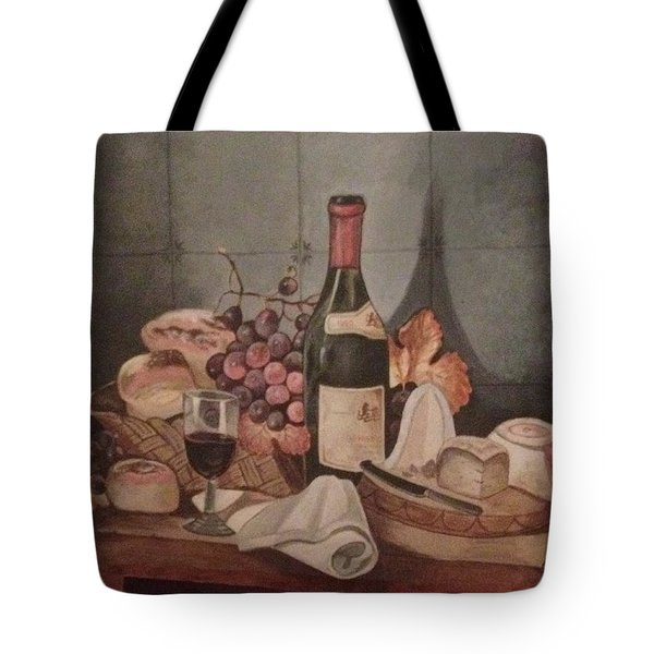 Tote Bag featuring the painting Aperitif  by Elizabeth Mundaden