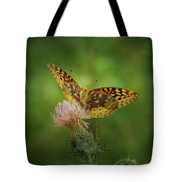 Tote Bag featuring the photograph Aphrodite Fritillary Butterfly by Sandy Keeton