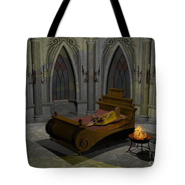 Tote Bag featuring the digital art Aphrodite by Sipo Liimatainen