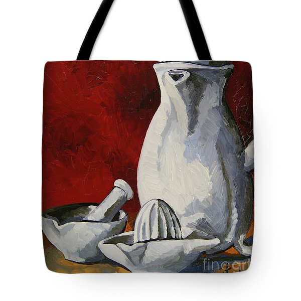 Tote Bag featuring the painting Apilco No. 4 by Erin Fickert-Rowland