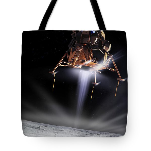 Apollo 11 Moon Landing Tote Bag by Detlev Van Ravenswaay and Photo Researchers