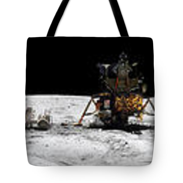 Apollo 16 Landing Site In The Lunar Tote Bag by Stocktrek Images