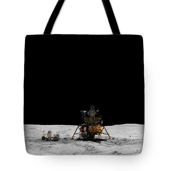Apollo 16 Landing Site Panorama Tote Bag
