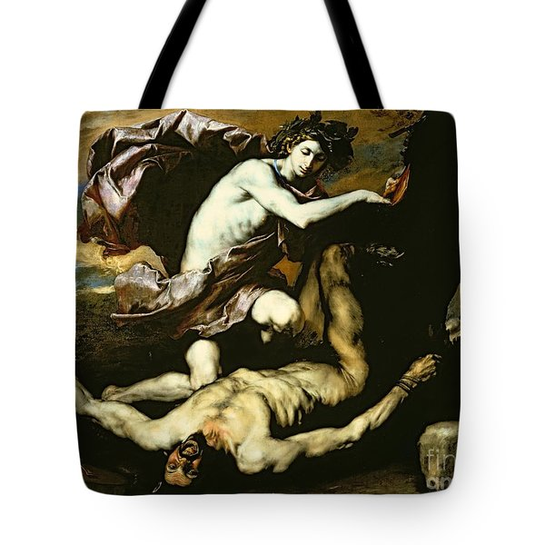 Apollo And Marsyas Tote Bag by Jusepe de Ribera