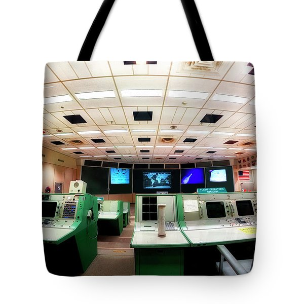 Tote Bag featuring the photograph Apollo Mission Control - Space Center Houston - Nasa by Jason Politte
