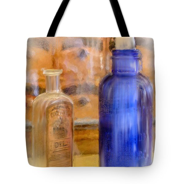 Tote Bag featuring the photograph Apothecary by Mary Timman