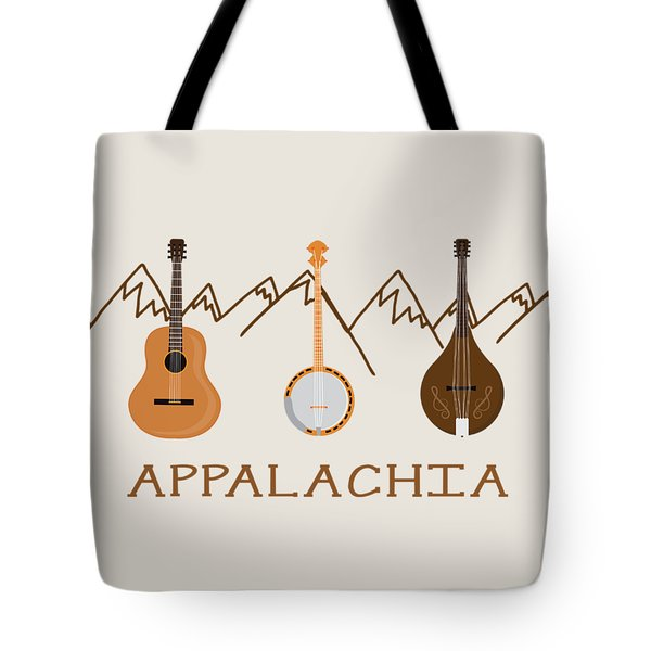 Appalachia Mountain Music Tote Bag by Heather Applegate