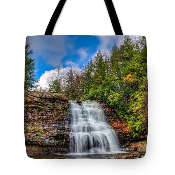 Appalachian Mountain Waterfall Tote Bag