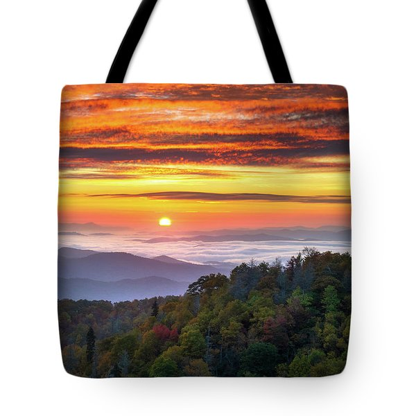 Appalachian Mountains Asheville North Carolina Blue Ridge Parkway Nc Scenic Landscape Tote Bag
