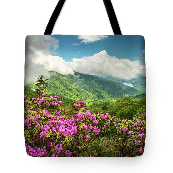 Appalachian Mountains Spring Flowers Scenic Landscape Asheville North Carolina Blue Ridge Parkway Tote Bag