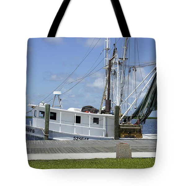 Appalachicola Shrimp Boat Tote Bag