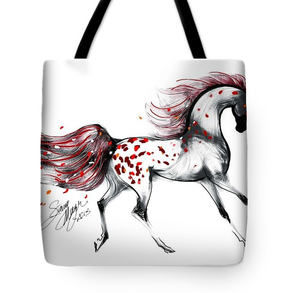 Appaloosa Rose Petals Horse Tote Bag