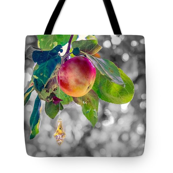 Apple And The Diamond Tote Bag