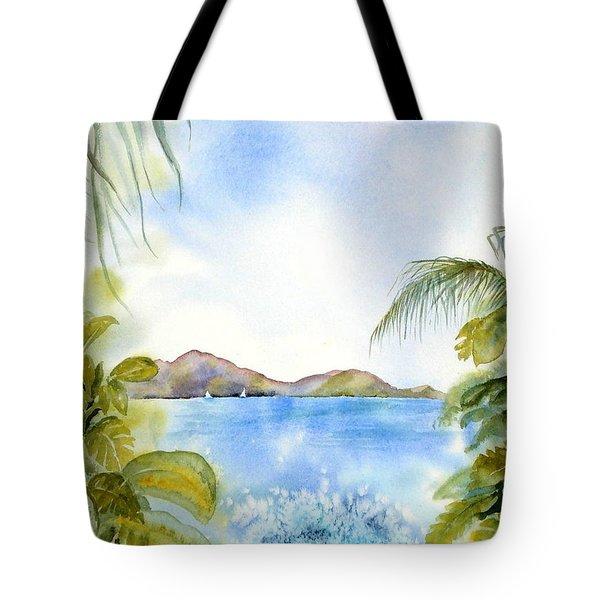 Apple Bay Wave Tote Bag