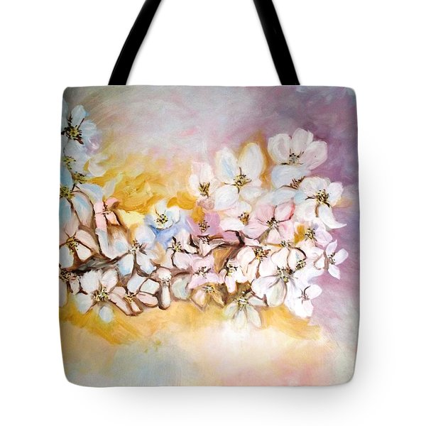 Apple Blooms Tote Bag by Donna Dixon